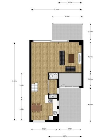 Floorplan - Wim Hoogendoornstraat 7, 3404 GJ IJsselstein