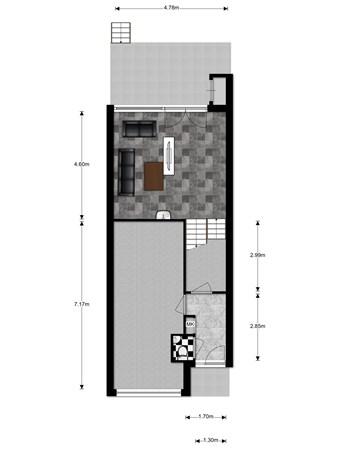 Floorplan - Kapitein Van Zijll-Laan 131, 3405 AC Benschop