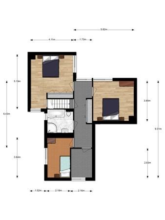 Floorplan - Hernhutterslaan 27, 3402 GZ IJsselstein