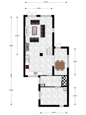 Floorplan - Haanderik 26, 3401 ES IJsselstein
