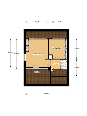 Floorplan - Meeuwenlaan 5, 3411 BC Lopik