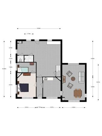Floorplan - Hogebiezendijk 82, 3401 RT IJsselstein