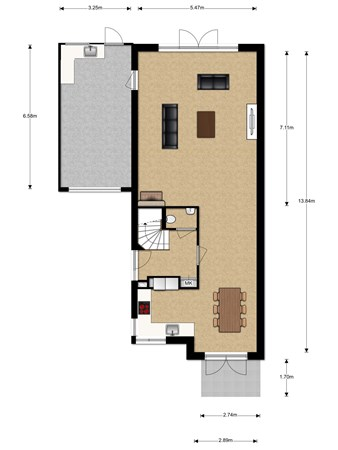 Floorplan - Poldermolenlaan 26, 3404 DG IJsselstein