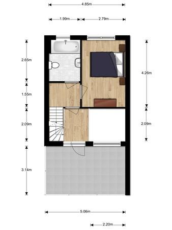 Floorplan - Warschaustraat 15, 3404 VK IJsselstein