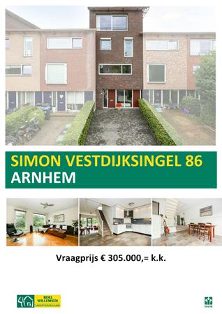Floorplan - Simon Vestdijksingel 86, 6836 VD Arnhem