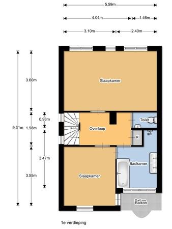 Floorplan - Haverkampsweg 37, 8161 VP Epe