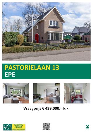 Floorplan - Pastorielaan 13, 8161 CV Epe