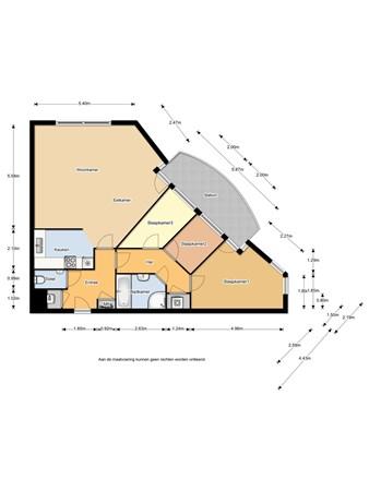 Floorplan - Vondelstaete 550, 1814 MJ Alkmaar