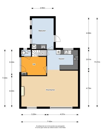 Floorplan - Langenboomseweg 19, 5411 AS Zeeland