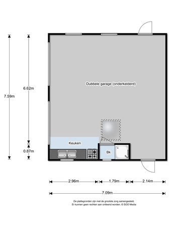 Floorplan - Langenboomseweg 19, 5411 AS Zeeland