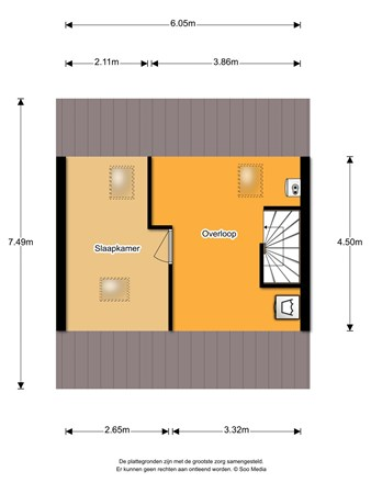 Floorplan - Boekweitstraat 32, 5409 BB Odiliapeel