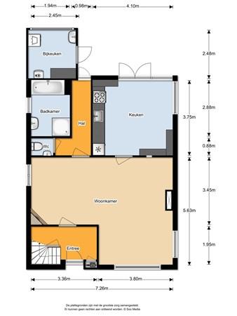 Floorplan - Oude Molenstraat 14, 5411 EJ Zeeland
