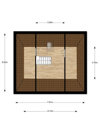 Floorplan - Helenastraat 47, 5401 AJ Uden