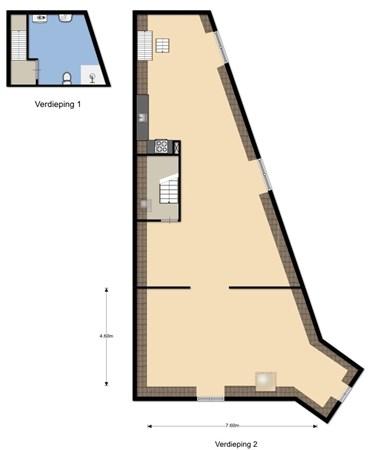 Floorplan - Graafseweg 23, 6512 BM Nijmegen