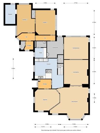 Floorplan - Beursstraat 9, 7551 HP Hengelo