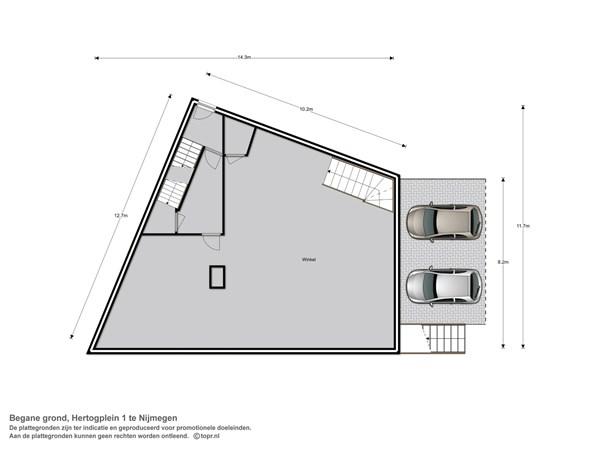 Floorplan - Hertogplein 1-3, 6511 SK Nijmegen