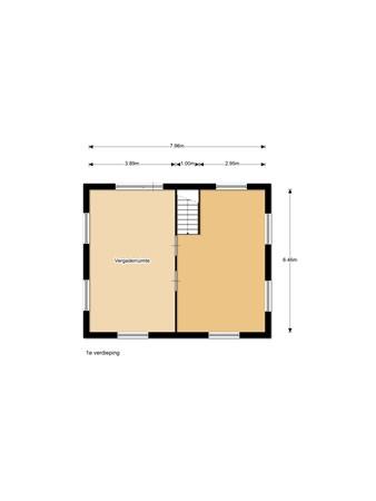 Floorplan - Hoofdweg 161a, 9421 PC Bovensmilde