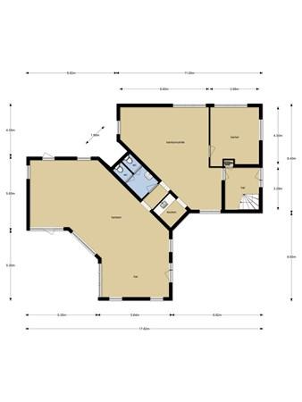 Floorplan - Oosteinde 2B EN C, 9301 LJ Roden