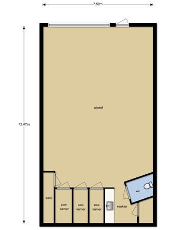 Floorplan - de Schans 10, 9351 AZ Leek