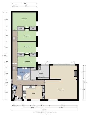 Floorplan - Tilburgseweg 43-45, 4902 TL Oosterhout