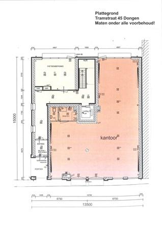 Floorplan - Tramstraat 45, 5104 GH Dongen
