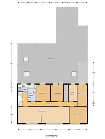 Floorplan - Tramstraat 54, 5104 GM Dongen