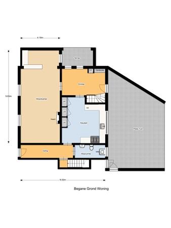 Floorplan - Hoge Ham 80-82, 5104 JH Dongen