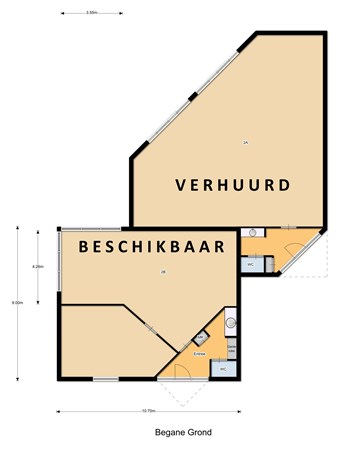 Floorplan - Anjerstraat 2B, 5102 ZA Dongen