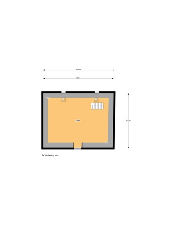 Floorplan - Voorstraat 86, 4132 AT Vianen