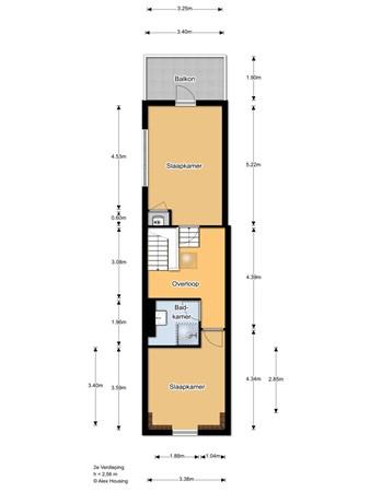 Floorplan - Keizerstraat 145, 2584 BD 's-Gravenhage