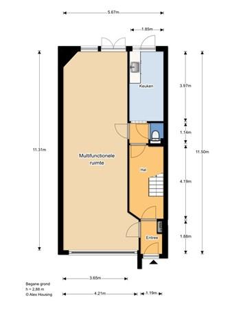 Floorplan - Thomsonplein 10-10A, 2565 KT 's-Gravenhage