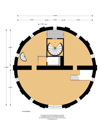 Floorplan - Communicatieweg Oost 12-1e/2e, 1566 PK Assendelft