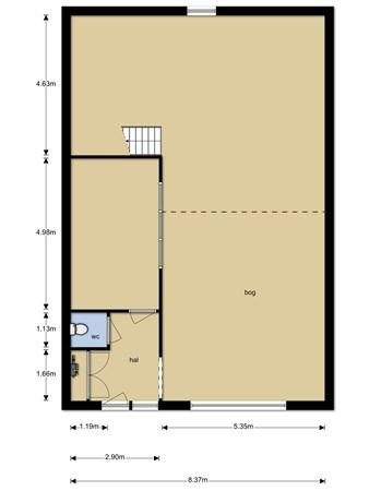 Floorplan - Rak 105, 1551 NA Westzaan