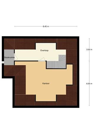 Floorplan - N.C.B.-laan 51, 5462 GB Veghel