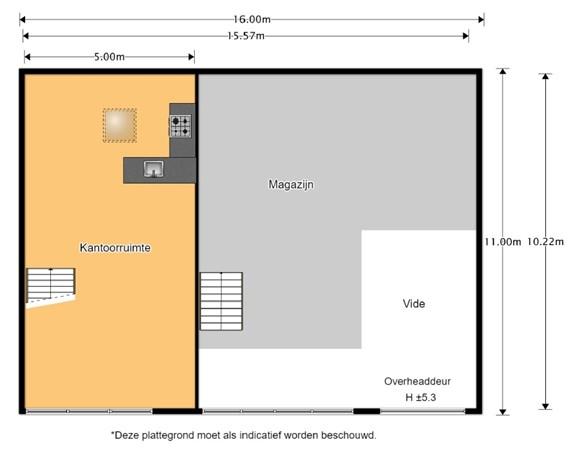 Floorplan - Witte Paal 332U-V, 1742 LE Schagen