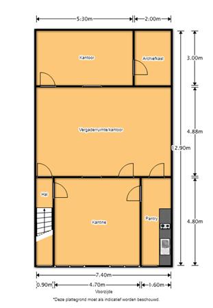 Floorplan - Lagedijkerweg 13M, 1742 NB Schagen
