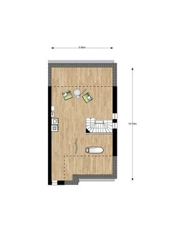 Floorplan - Bouwnummer 001, 6515 AA Nijmegen