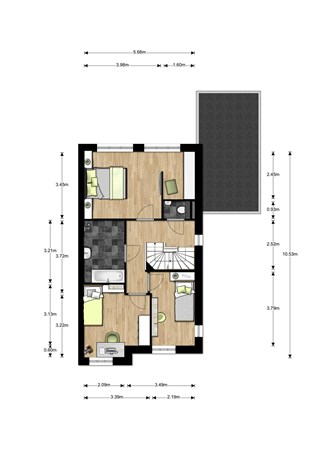 Floorplan - Bouwnummer 007, 6515 AA Nijmegen