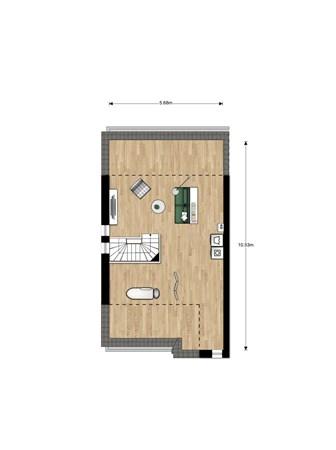 Floorplan - Bouwnummer 002, 6515 AA Nijmegen