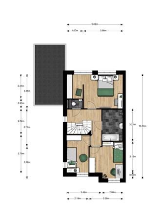 Floorplan - Op de Set Bouwnummer 008, 6515 AA Nijmegen