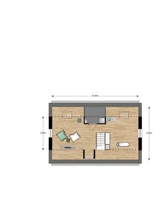 Floorplan - Jacques Tatistraat Bouwnummer 011, 6515 AA Nijmegen