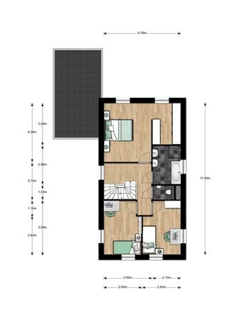 Floorplan - Bouwnummer 014, 6515 AA Nijmegen