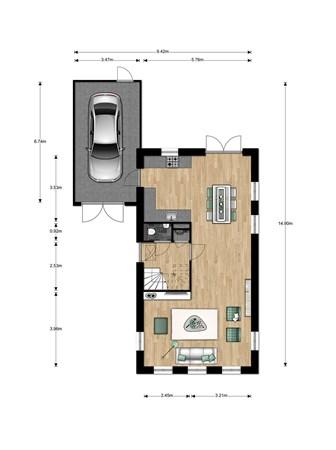 Floorplan - Jacques Tatistraat Bouwnummer 014, 6515 AA Nijmegen