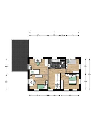 Floorplan - Bouwnummer 015, 6515 AA Nijmegen